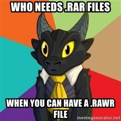 Business Dragon - who needs .rar files when you can have a .rawr file