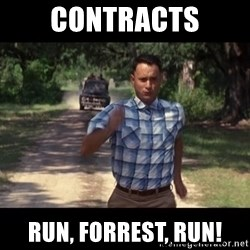 run forest - cONTRACTS Run, Forrest, run!