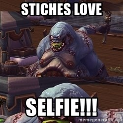 Bad Pun Stitches - Stiches LOve SELFIE!!!