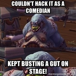 Bad Pun Stitches - Couldn't hack it as a comedian Kept busting a gut on stage!