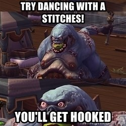 Bad Pun Stitches - Try dancing with a stitches! you'll get hooked