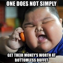 fat chinese kid - One does not simply Get their money's worth at Bottomless buffet