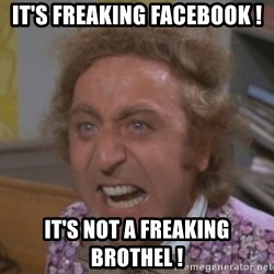 WillyWonkaFizzy - it's freaking facebook ! it's not a freaking brothel !