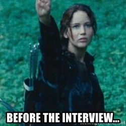 Katniss Three Finger Salute -  before the interview...