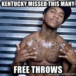 lil b - Kentucky missed this many Free throws