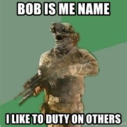 philosoraptor call of duty - bob is me name  i like to duty on others