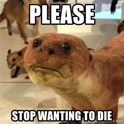Sad Otter - PLEASE  stop wanting to die