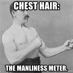 overly manlyman - chest hair: the manliness meter.