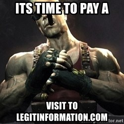Duke Nukem Forever - its time to pay a visit to LEGITINFORMATION.COM