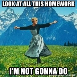 Look at all the things - Look at all this homework I'm not gonna do