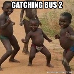 african children dancing - catching bus 2
