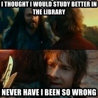 Never Have I Been So Wrong - I thought i would study better in the library never have i been so wrong
