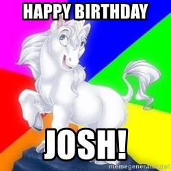 Gayy Unicorn - Happy Birthday  Josh!