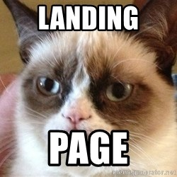 Angry Cat Meme - LANDING  page