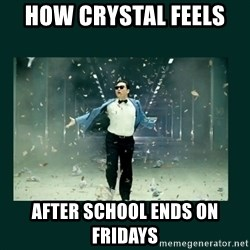 Gangnam style psy - How crystal feels  After school ends on Fridays
