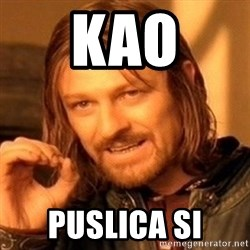 One Does Not Simply - KAO PUSLICA SI
