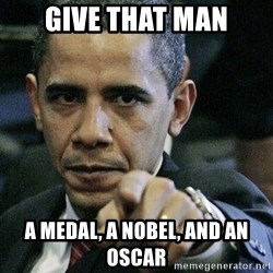 Pissed Off Barack Obama - Give that man a medal, a nobel, and an oscar