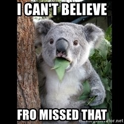 Koala can't believe it - I can't believe fro missed that