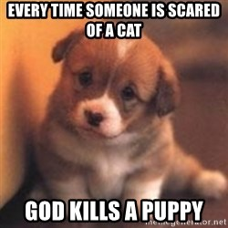 cute puppy - Every time someone is scared of a cat God kills a puppy