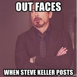 Robert Downey Junior face - out faces when steve keller posts
