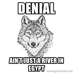 Sarcastic Wolf - denial ain't just a river in egypt