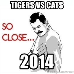 So Close... meme - tigers vs cats 2014