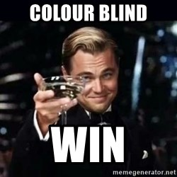 Gatsby Gatsby - colour blind win