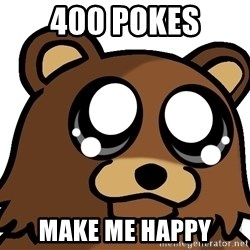 Pedobear Triste - 400 POKES make me happy