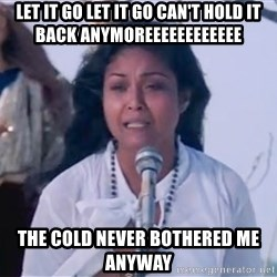 Nora Aunor walang himala - LET IT GO LET IT GO CAN'T HOLD IT BACK ANYMOREEEEEEEEEEEE THE COLD NEVER BOTHERED ME ANYWAY