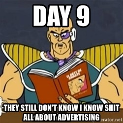 El Arte de Amarte por Nappa - day 9 they still don't know I know shit all about advertising