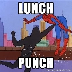 crotch punch spiderman - Lunch Punch