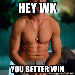 Shirtless Ryan Gosling - Hey WK You better win