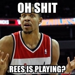 Basketball JaVale Mcgee - OH SHIT REES IS PLAYING?
