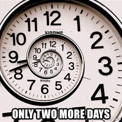 Ticking clock -  Only two more days