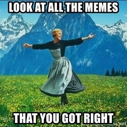 Look at all the things - look at all the memes that you got right