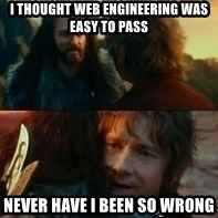 Never Have I Been So Wrong - i thought web engineering was easy to pass never have i been so wrong