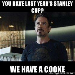 Tony Stark We Have a Hulk - you have last year's stanley cup? we have a cooke