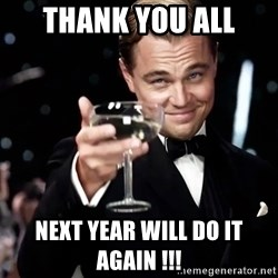 leonardo dicaprio 2 - thank you all  next year will do it again !!!