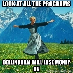 Look at all the things - LOOK AT ALL THE PROGRAMS BELLINGHAM WILL LOSE MONEY ON