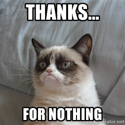 good grumpy cat 2 - Thanks... For nothing