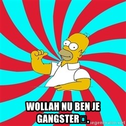 Frases Homero Simpson -  Wollah nu ben je gangster👍.