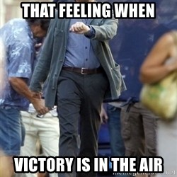 Happy Leonoard Dicaprio - That feeling when victory is in the air