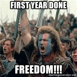 William Wallace braveheart mel gibson lol - First year done Freedom!!!