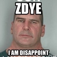 son i am disappoint - ZDYE I AM DISAPPOINT