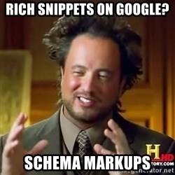 ancient alien guy - Rich Snippets on Google? Schema Markups