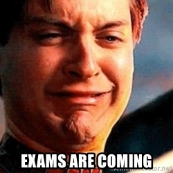 Crying Tobey Maguire -  exams are coming