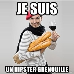 scumbag french - je suis  un hipster grenouille