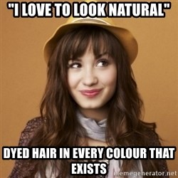 """Demi Lovato - """"i love to look natural"""" DYED HAIR IN EVERY COLOUR THAT EXISTS"""
