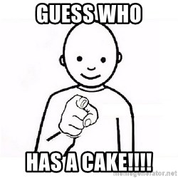 GUESS WHO YOU - GUESS WHO HAS A CAKE!!!!