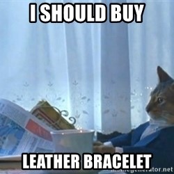 Sophisticated Cat - i should buy leather bracelet